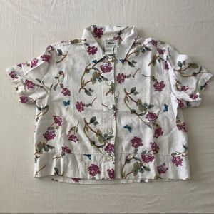 Vintage Country Wear Casuals Floral Shirt